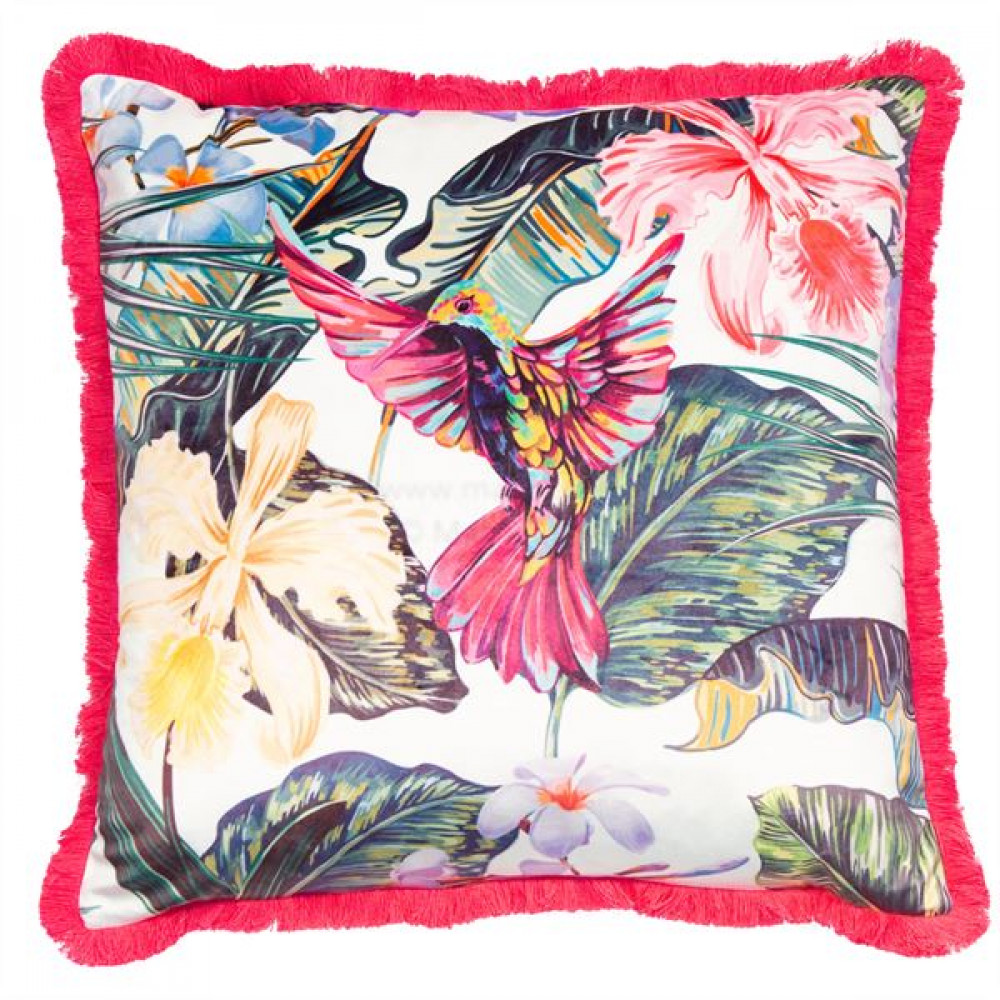 Malini Botanical Hummingbird Cushion