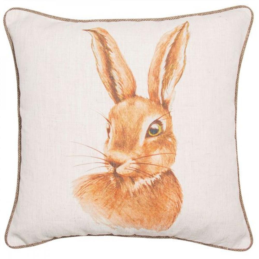Malini Watercolour Hare Printed Cushion