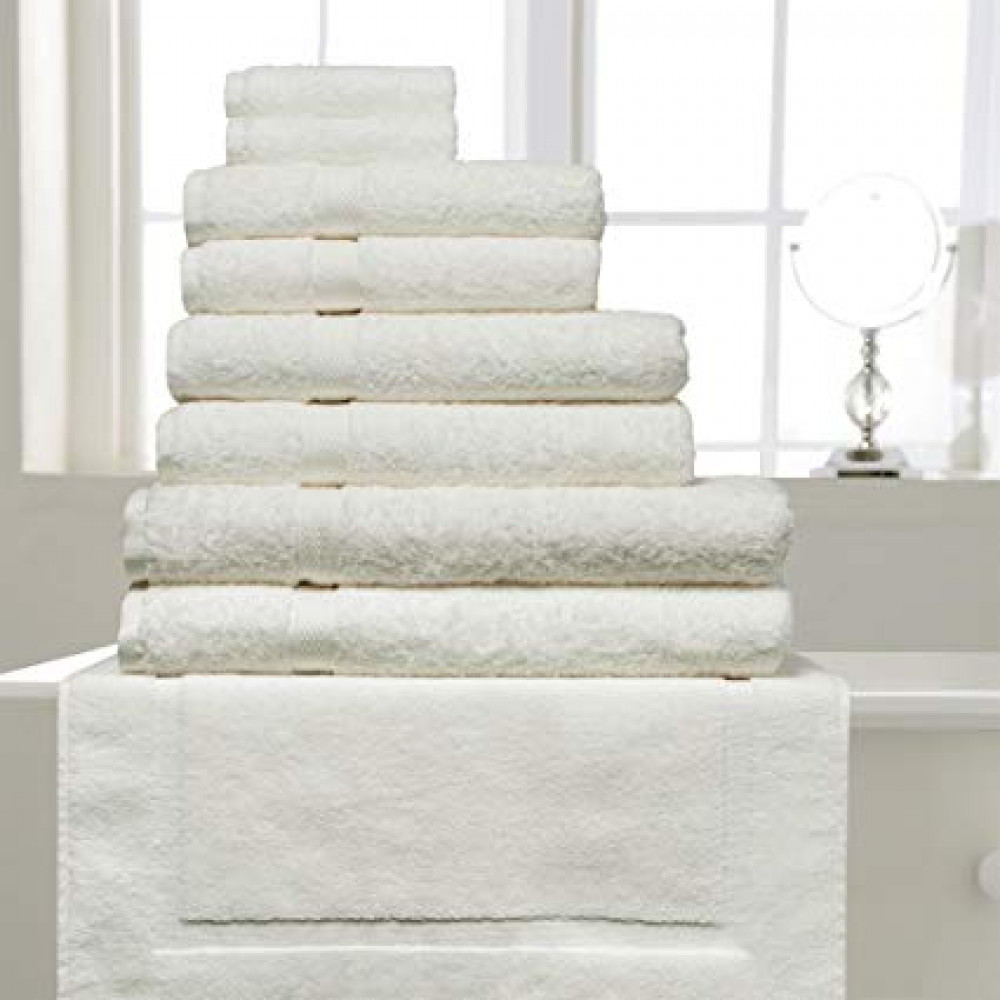 600 gsm 100% Cotton Hotel Quality Towel in Ivory