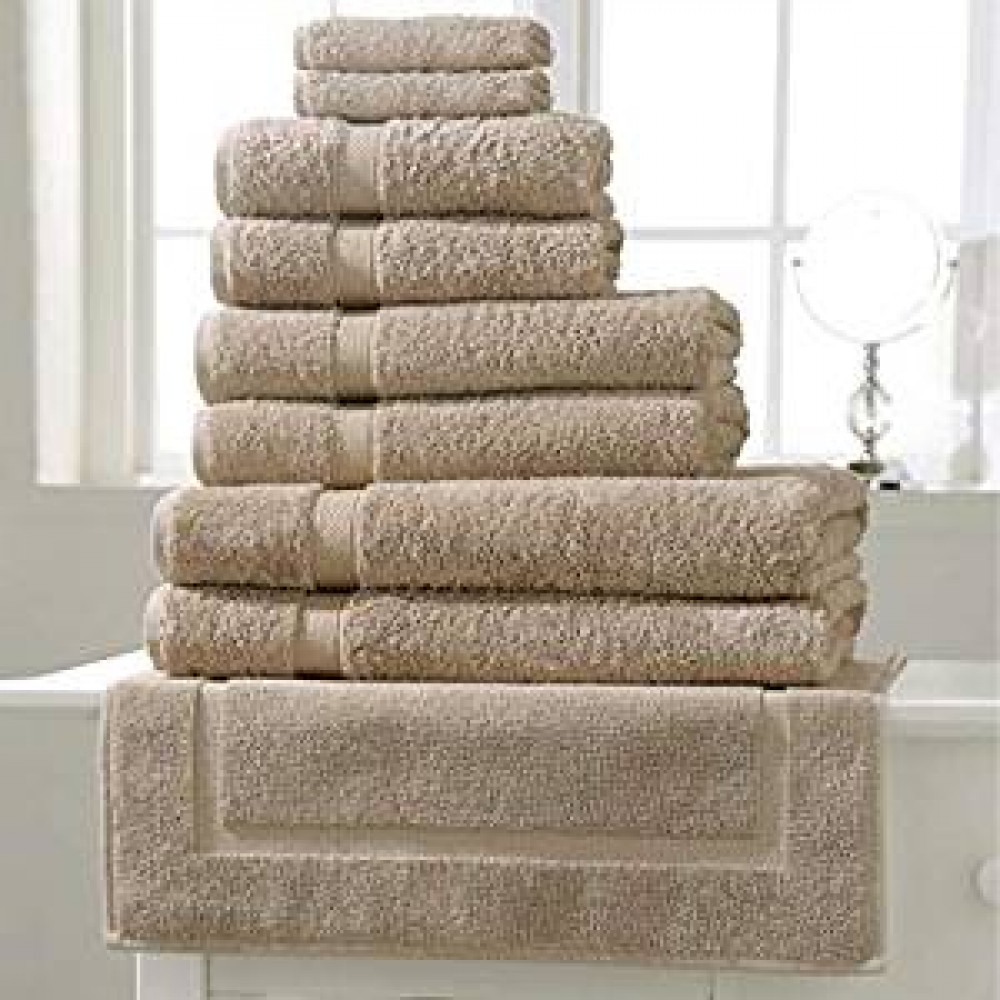600 gsm 100% Cotton Hotel Quality Towel inPebble