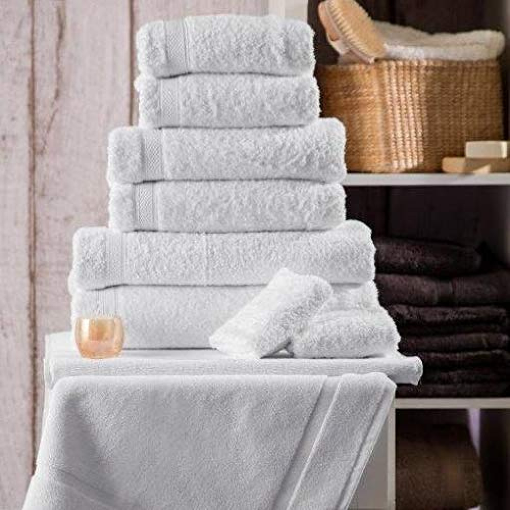 600 gsm 100% Cotton Hotel Quality Towel in White