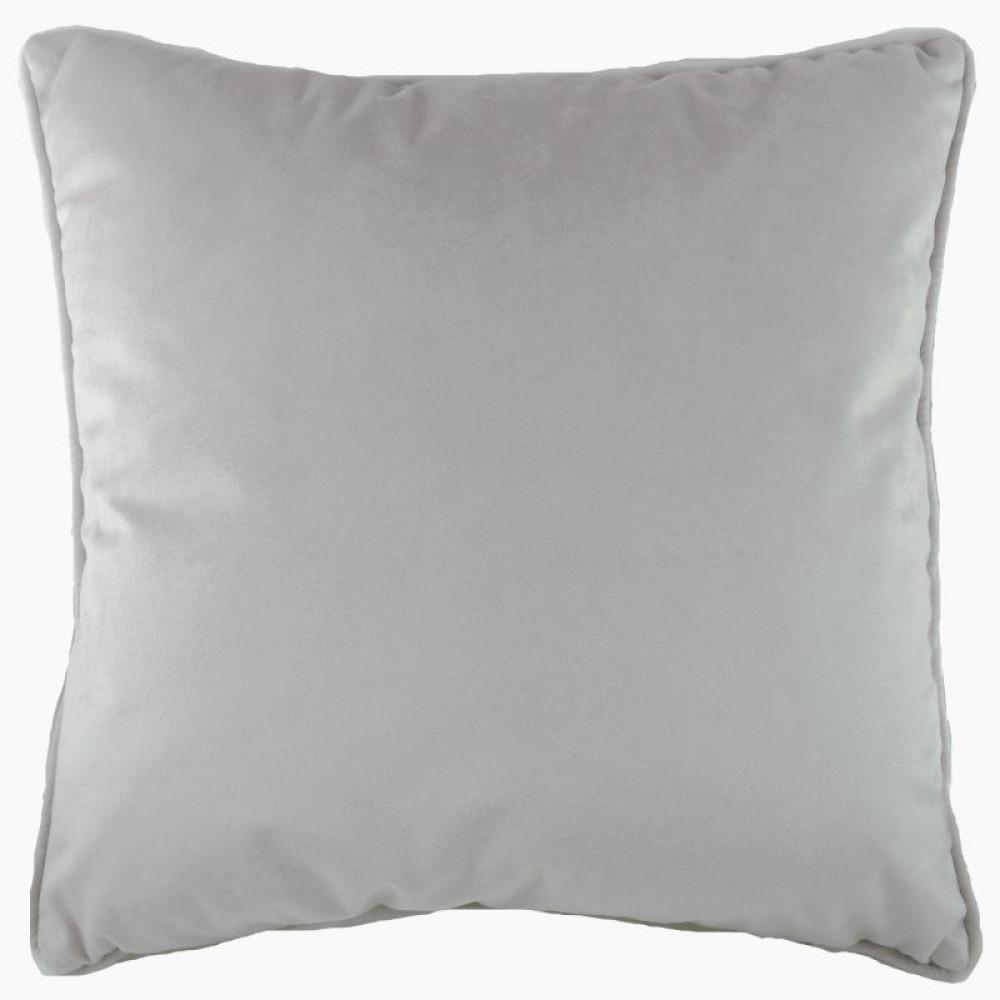 French Velvet Cushion in Silver Grey