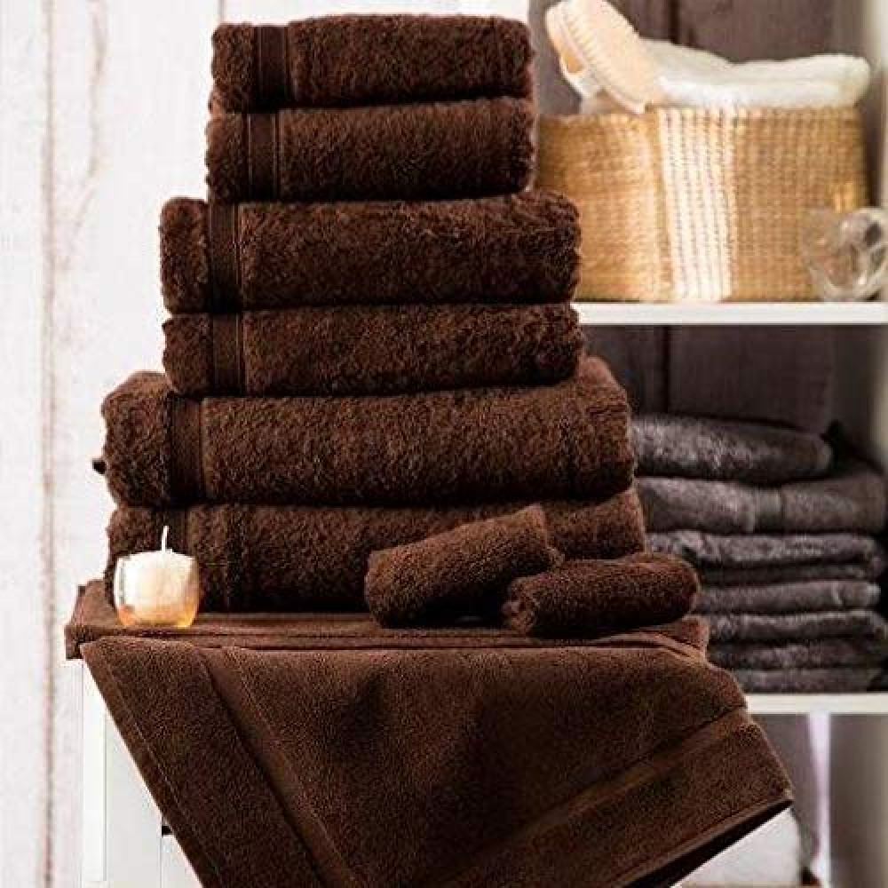 600 gsm 100% Cotton Hotel Quality Towel in Chocolate Brown