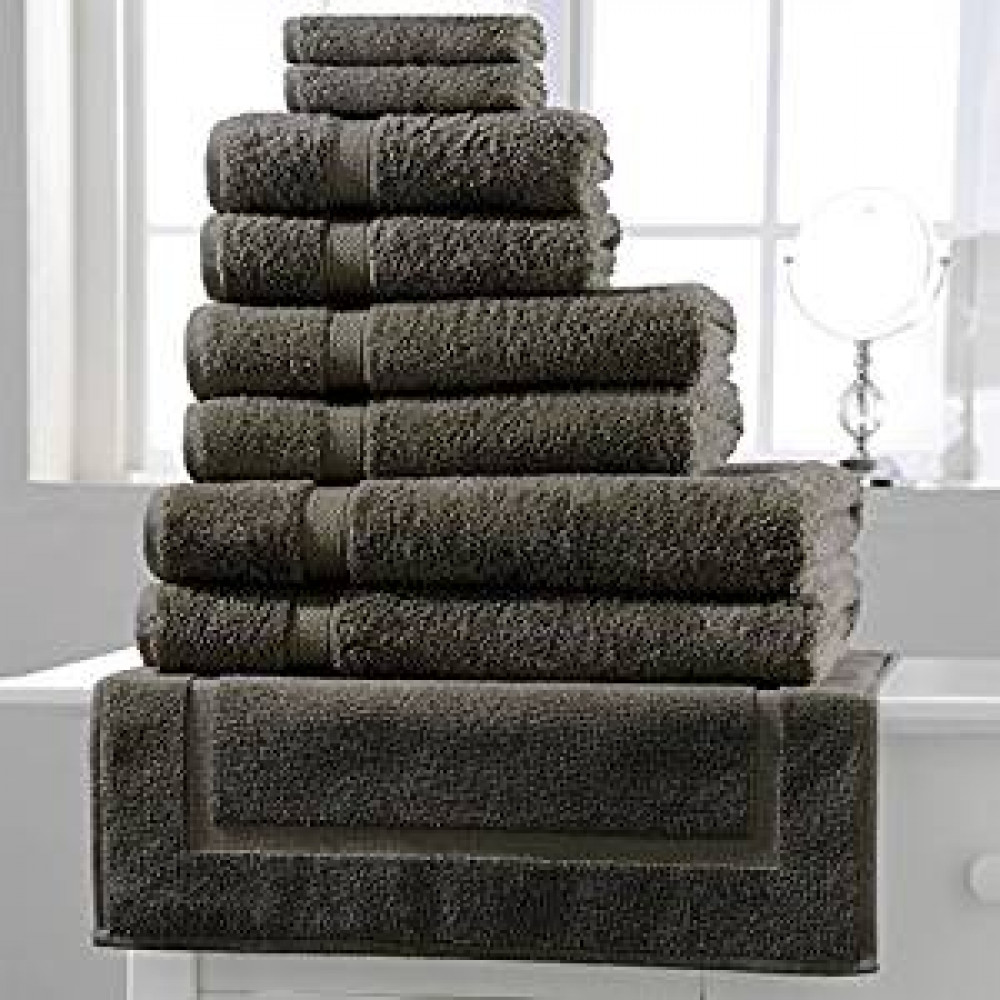 600 gsm 100% Cotton Hotel Quality Towel in Slate Grey