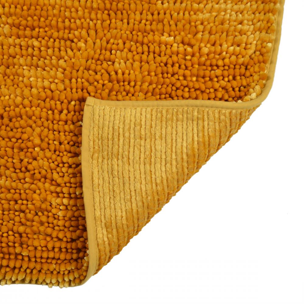Extra Soft Chenille XL Bath Mat Mustard Yellow