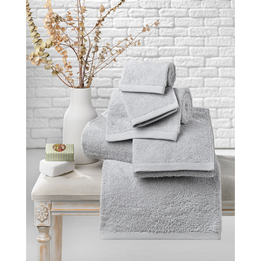 600gsm Towel Bale in Silver Grey
