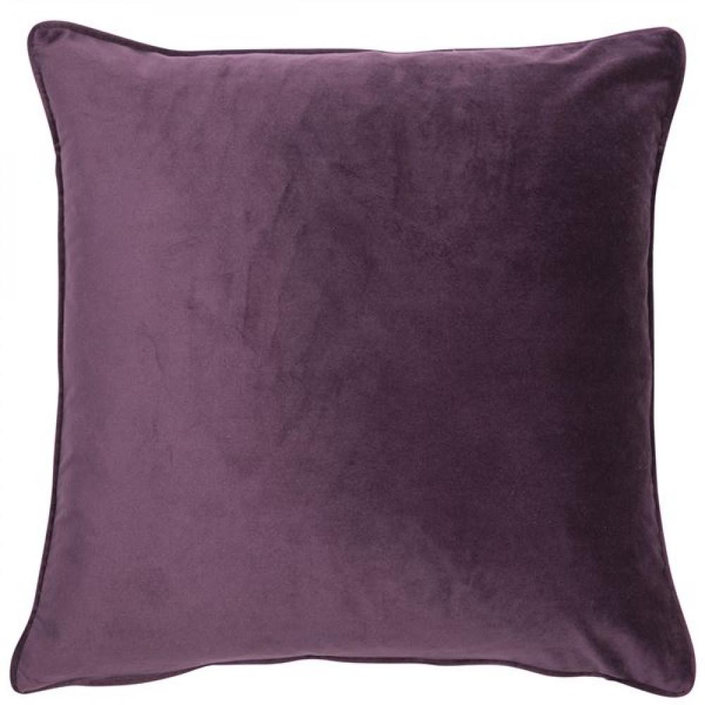 Malini Luxe Velvet Cushion in Aubergine