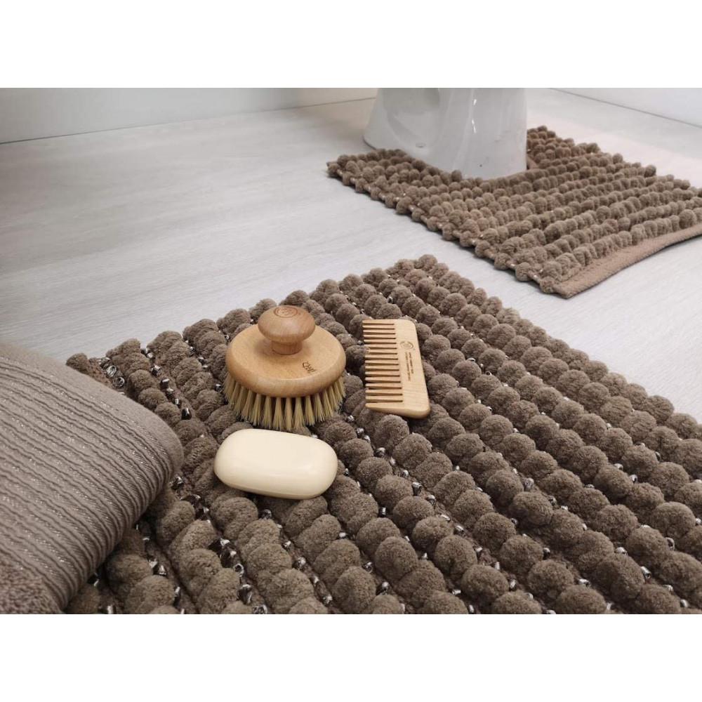 Sparkle Bobble Bath or Pedestal Mat in Mocha