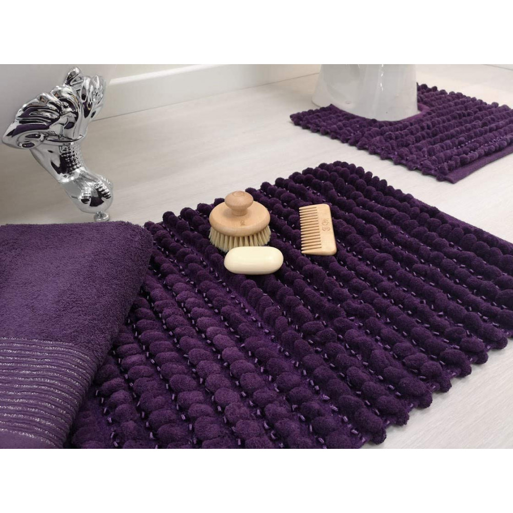 Sparkle Bobble Bath or Pedestal Mat in Purple