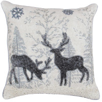 Midnight Reindeer Theme Christmas Cushion