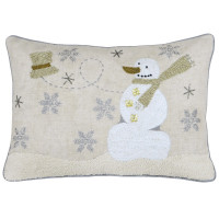 Snowman Theme Boudoir Christmas Cushion