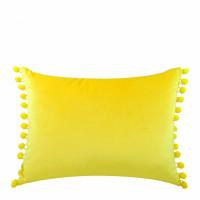 Velvet Feel Pom Pom Cushion