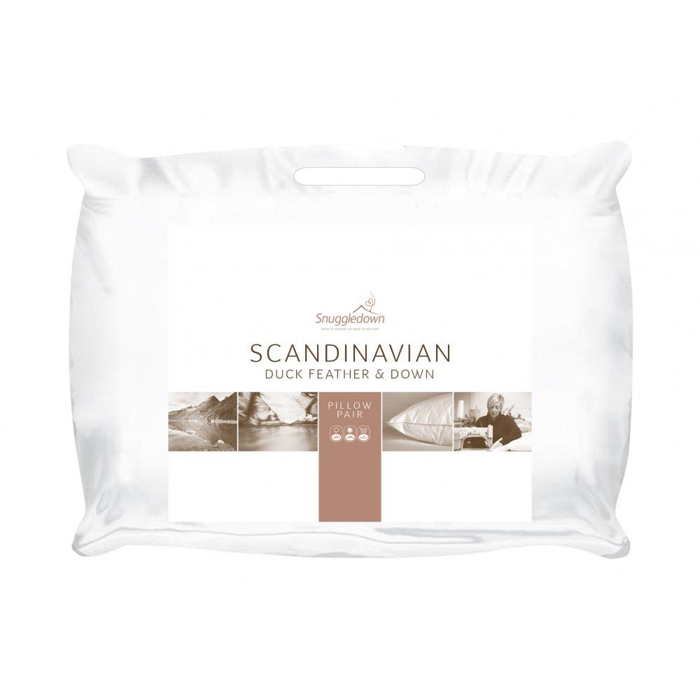 Pair  Duck Feather & Down Scandinavian Pillows