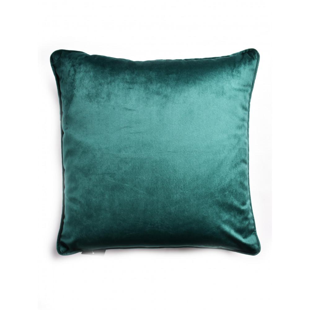 French Velvet Cushion in Teal