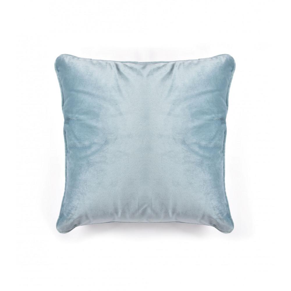 French Velvet Cushion in Duck Egg