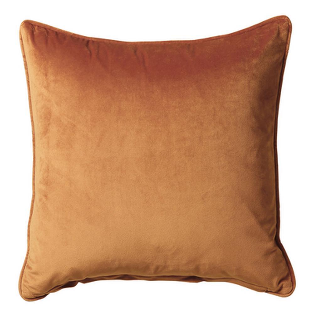 French Velvet Cushion in Terracotta