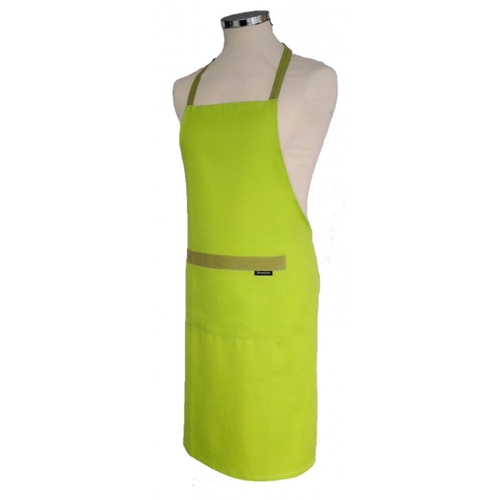 Plain Lime Green Apron