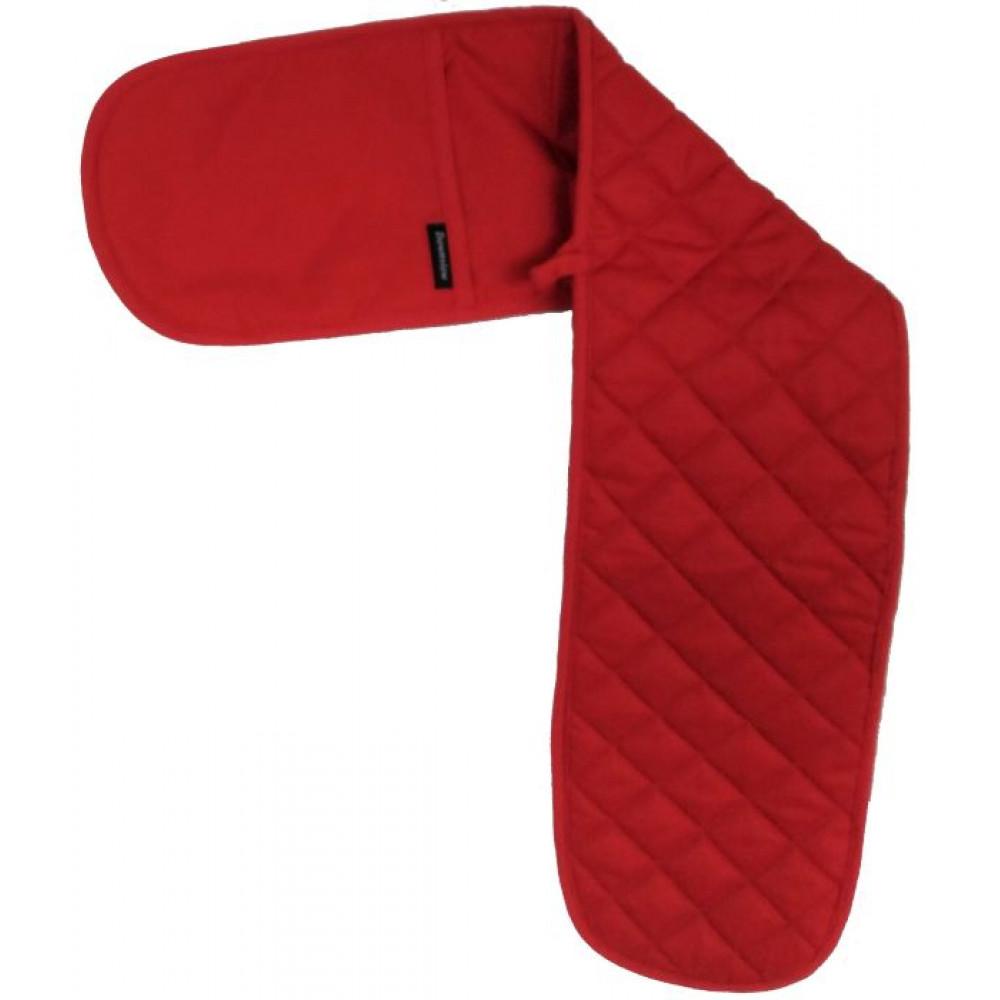 Plain Design Red Oven Gloves