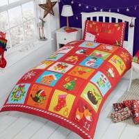 Christmas Advent Calendar Themed Duvet Cover Set
