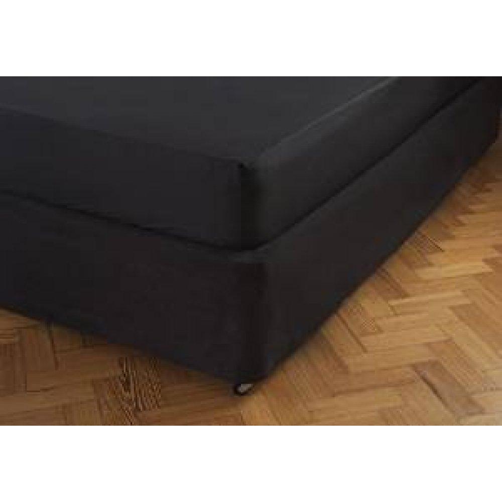 Faux Suede Divan Bed Base Wrap in Black