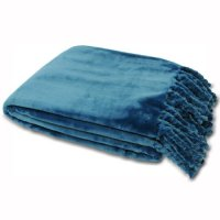 Supersoft Dorset Fringed Throw Fleece Blankets
