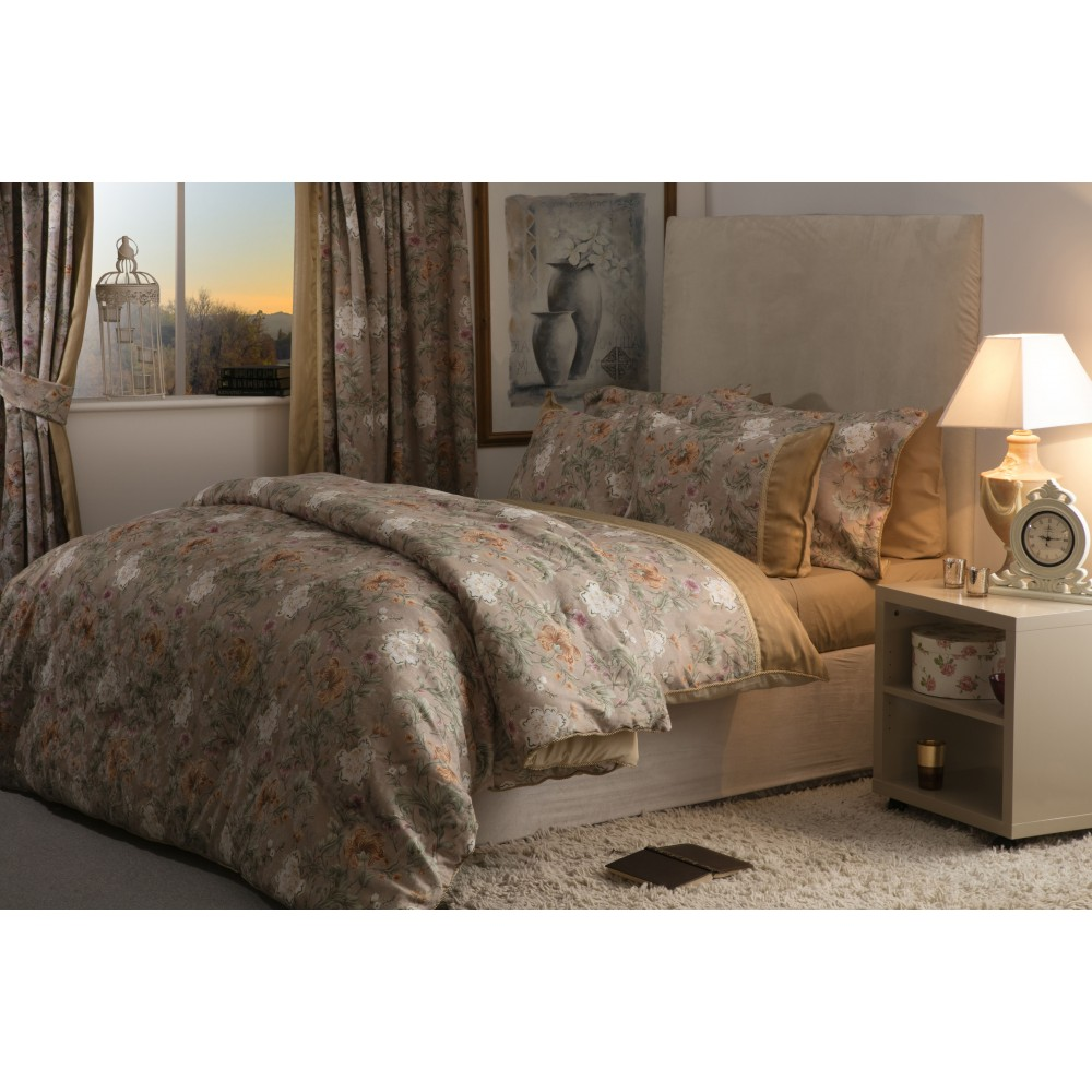 Rich Toned Jacquard Floral Bed Linen