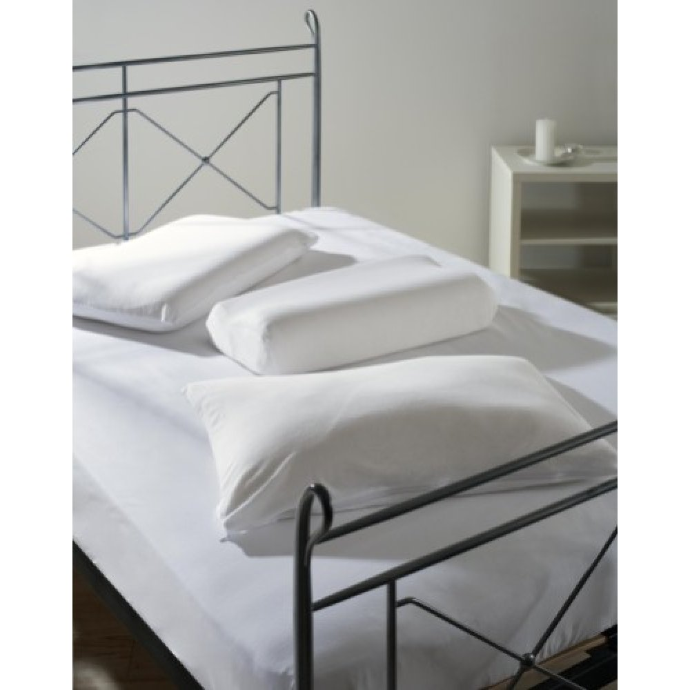 100% Combed Cotton Memory Foam Fitted Sheet in White