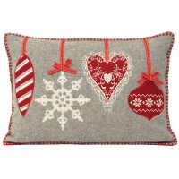 Christmas Themed Bauble Cushion