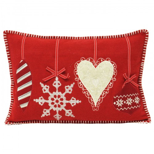 Nordica Cushion Cover Grey Baubles Cushion Cover