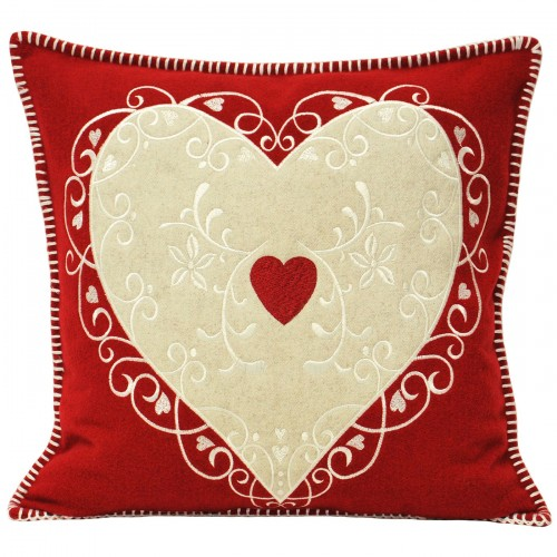 Nordica Cushion Cover Red Heart Baubles Cushion Cover