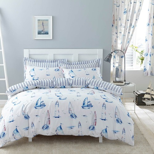 Salcombe Duvet Set Charlotte Thomas Curtains Sail Boats