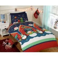 Christmas Santas Grotto Duvet Cover Set