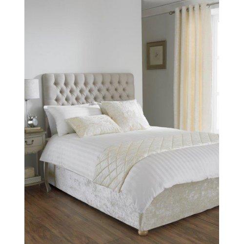 Crushed velvet divan bed base wrap for Divan valance wrap