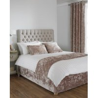 Crushed Velvet Divan Bed Base Wrap in Oyster