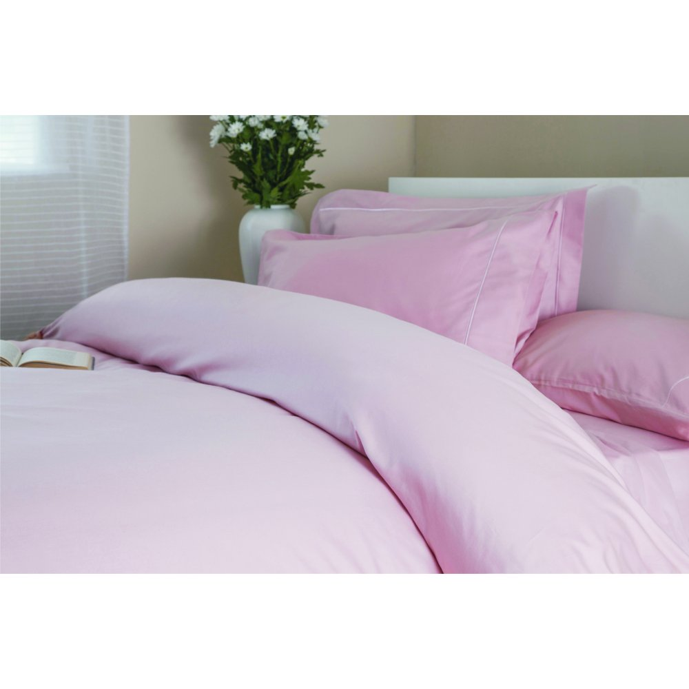 400 Thread Count Egyptian Cotton Duvet Cover in Blush Pink